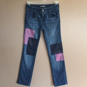 TommyHilfiger denim straight jeans w/paint patches